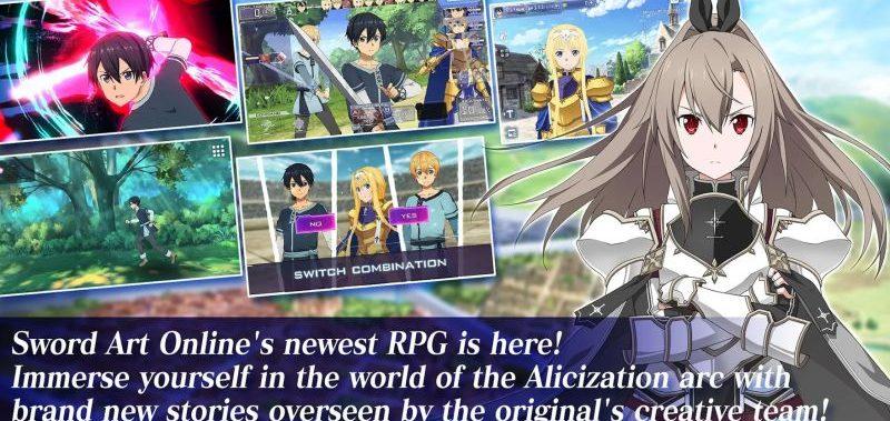 Sword Art Online Alicization Rising Steel : Maintenant sur IOS et Android